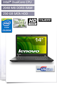 Notebook Lenovo 100-14IBY / N2840
