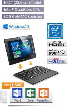 CSL Panther Tab HD USB 3.1 / Win 10 / Tastatur