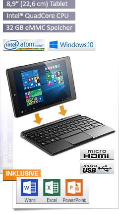 CSL Panther Tab 9s / Win 10 / Tastatur