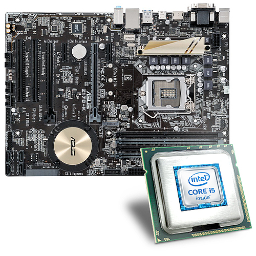 intel core i5 6600k asus z170 k mainboard bundle csl. Black Bedroom Furniture Sets. Home Design Ideas