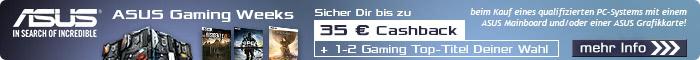 ASUS Gaming Weeks: Bis zu 35,- EUR Cashback und 2 Top-Games!