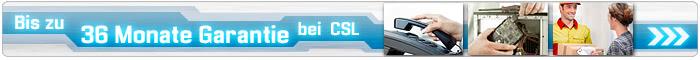 Bis zu 36 Monate Garantie bei CSL